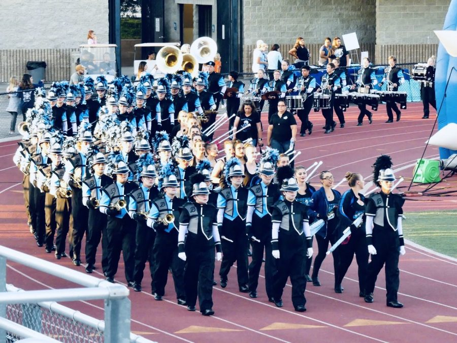 The+Buena+High+School+Marching+Band+entering+the+stadium+for+a+Buena+Football+game