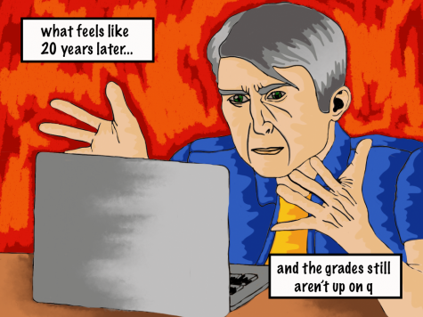 "Cartoon 51: ""Waiting for grades"""