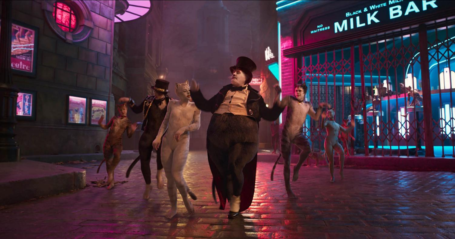 Dance scene featuring the main characters of Cats / Credit: Universal Pictures