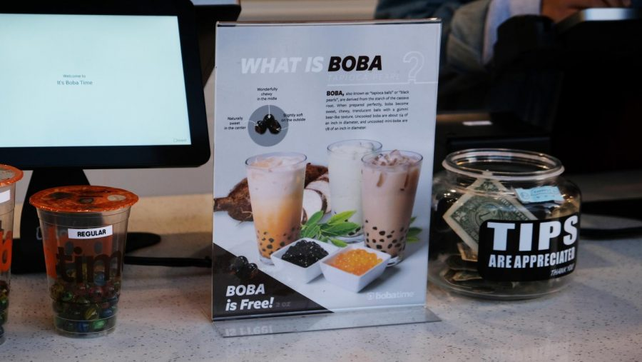 As you order your drink, information is provided to inform a customer more on what boba is