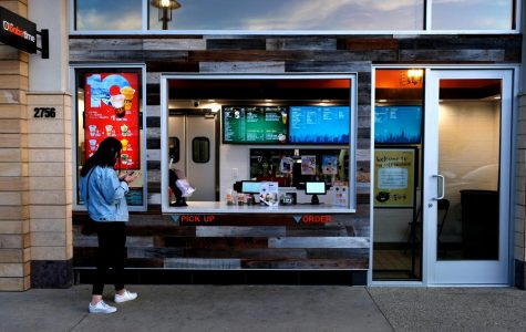 The store front of It's Boba Time offers the option of ordering right off the street