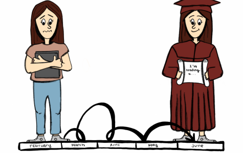 Cartoonist Jordyn Savard feels, for high school seniors, the end is quickly approaching and their next chapter is soon to begin.