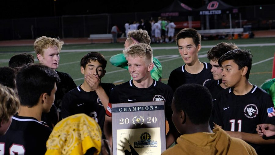 """It's ring season"" for Foothill boys' soccer as they win first place in Division Seven CIF game"