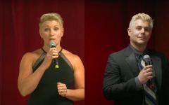 Emcees Melanie Lindsey and Justin Frazier switch off announcing different awards.