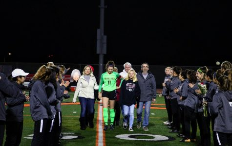 Keara Fitzgerald '20 and her family celebrate Senior Night with the Foothill girl's soccer team.  Spring season athletes do not get to celebrate these events in face of COVID-19.