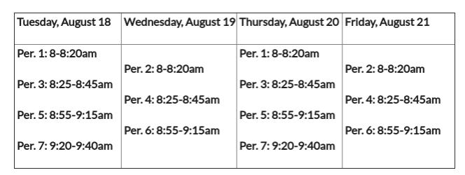 week+one+schedule