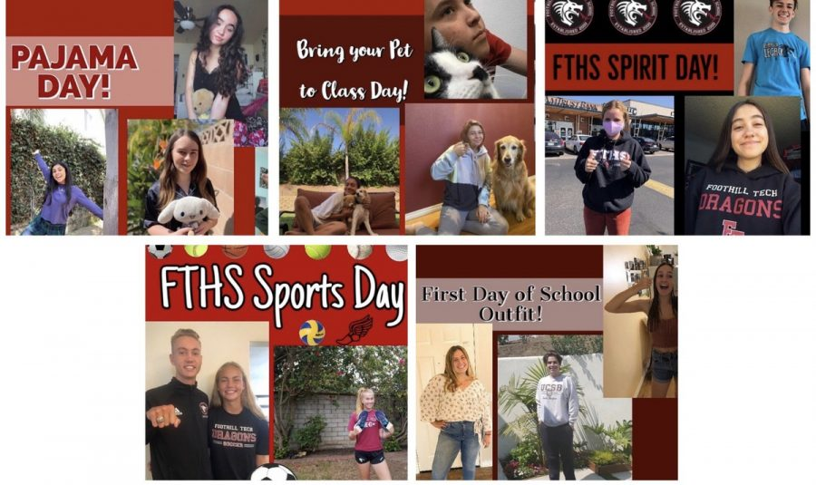 Pictures+of+various+students+who+participated+in+the+last+spirit+week.%0ACredit%3A+Foothill+Tech+ASB+Instagram