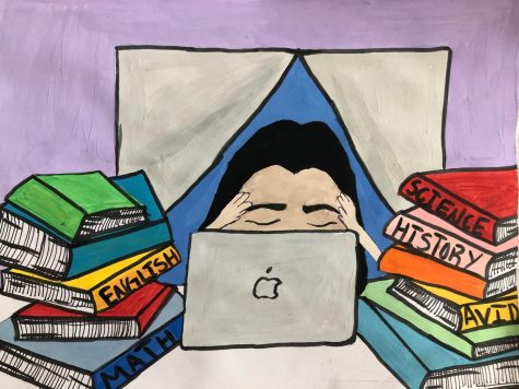 Illustrator Vanessa Rodriguez depicts the real struggle that all students are facing with online learning, and how one device can evoke so many emotions.
