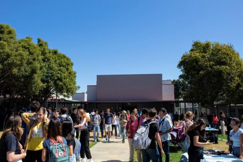 Students explore the 2019 Club Rush, an event like those students can look forward to as Foothill Tech considers  opening up for modified in-person classes.
