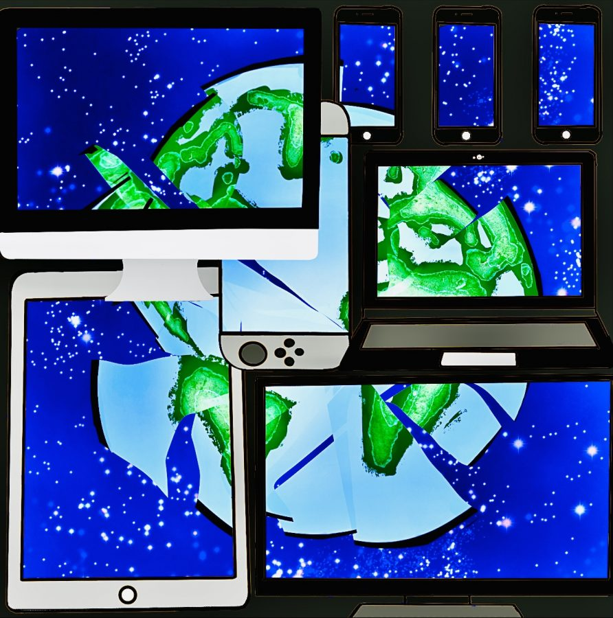 Isolated from others during this pandemic era, technology appears to be a necessity for everyday life. However, it is essential to know that consumers of technological devices and their controlled content are often left in the dark when it comes to knowing what is true, and what is not. Cartoonist Alivia Baker warns to beware of falling victim to the distorted reality our devices -- and the people behind them -- can create.