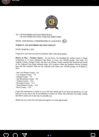 CIF clears outdoor competitive play for athletes