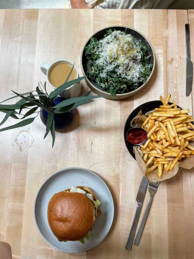 Frontside's lunch is a tasty way to begin your afternoon! The fries are incredible and something you can snack on all day!