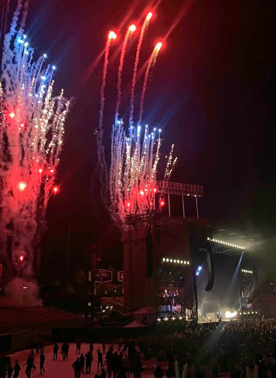 Fall Out Boy ended their performance with an explosion of music and excitement.