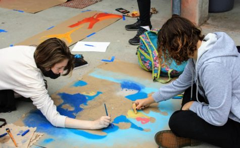 Autumn Campbell 23 and Dylann Overbaugh 23 spend hours carefully detailing faces.
