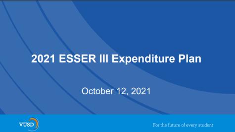 Update: ESSER III Expenditure Plan