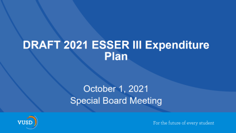 Ventura Unified school board meets to discuss the expenditure plan for the ESSER III grant.