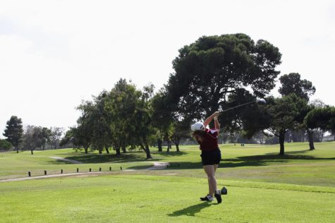 Girls' golf gets one win and one loss in an exhilarating three-team match