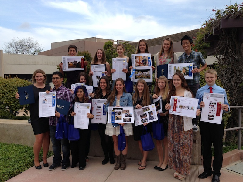 The+Foothill+Dragon+Press+staff+took+home+10+first+place+awards+at+the+Ventura+County+Star+high+school+journalism+awards+ceremony.+Credit%3A+Melissa+Wantz%2FThe+Foothill+Dragon+Press