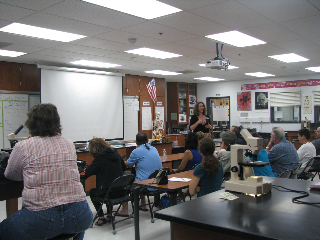 Halls abuzz at Back to School Night