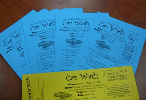 Foothills Teen Voice High School Leadership have begun selling tickets for March 12 car wash. Credit: Eva Morales/The Foothill Dragon Press.