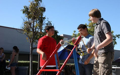 Conceptual physics students launch homemade catapults (16 photos, video)