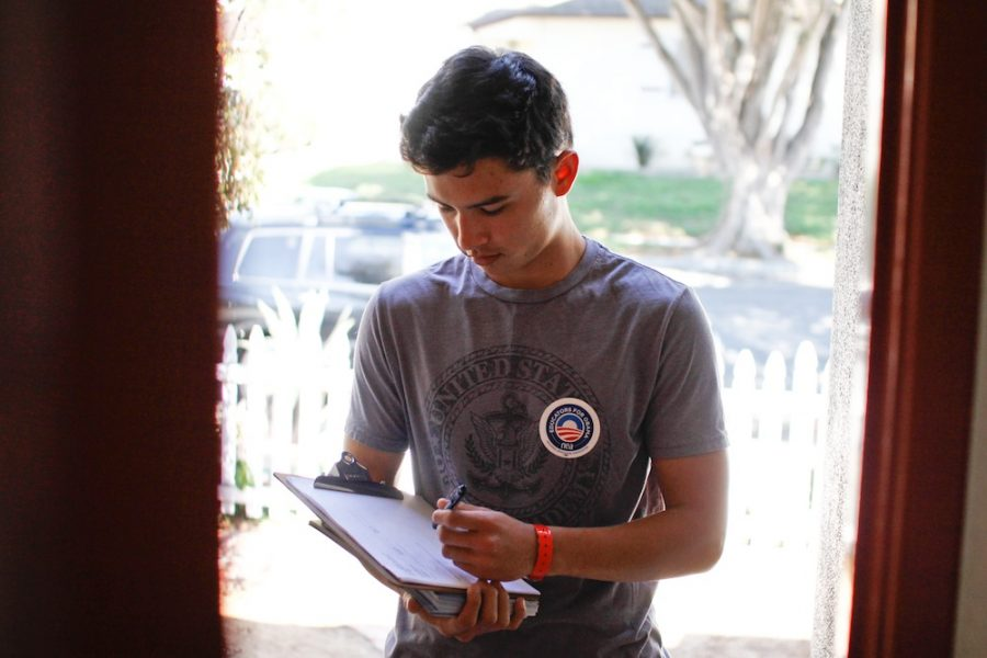 Chandler Vu juggles senior course load and volunteering for the congressional candidate Julia Brownley. Credit: Bethany Fankhauser/The Foothill Dragon Press