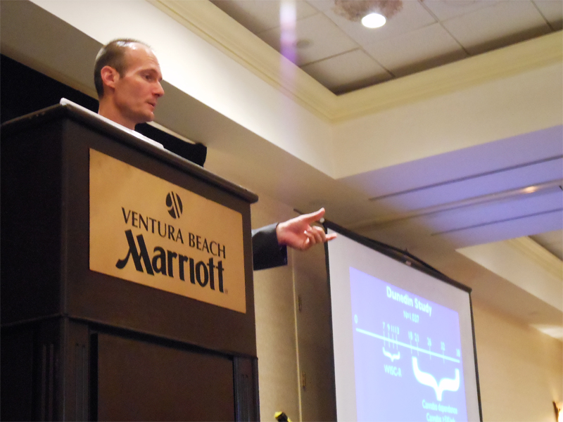 Christian Thurstone was a keynote speaker at a conference put on by the Alcohol & Drug Progam of Ventura County Behavioral Health concerning the effects of marijuana. Credit: Rachel Crane/The Foothill Dragon Press