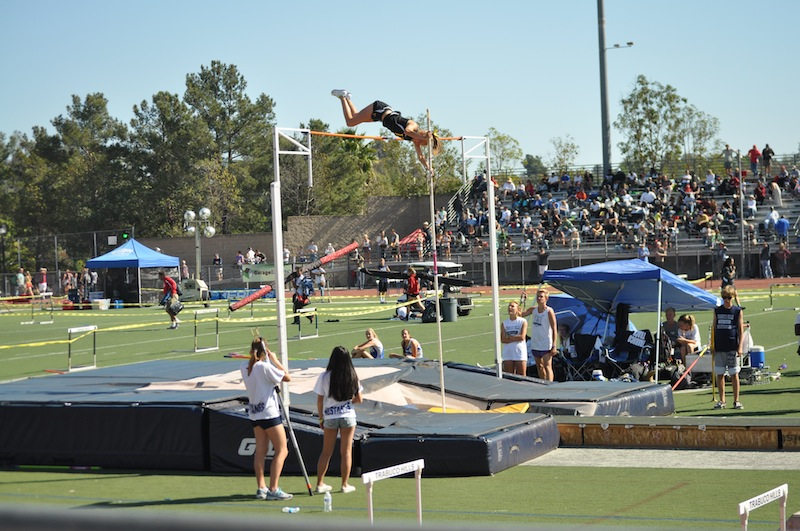 Senior Holly Tokar is ranked 11th in the country for pole vaulting. Credit: Cindy Tokar. Used with permission.
