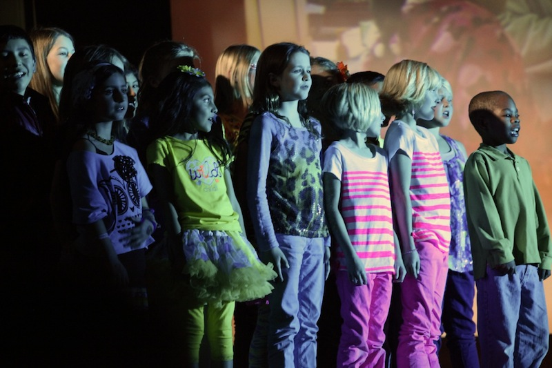 VUSD elementary school choir Noteables perform at 12th annual Festival of Talent. Credit: Bethany Fankhauser/The Foothill Dragon Press
