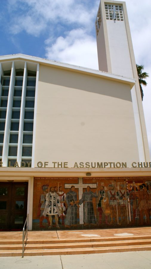 Our Lady of the Assumption was built in the 1960s and continues to be a large part of the lives of Catholics in Ventura. Credit: Maya Morales/The Foothill Dragon Press.