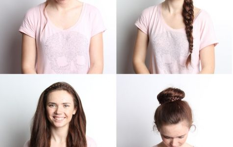 These are four easy, pretty, braided hairstyles that will only take five minutes on days when you're in a rush. Model: Senior Rachel Link. Credit: Lauren Pedersen & Felicia Perez/The Foothill Dragon Press