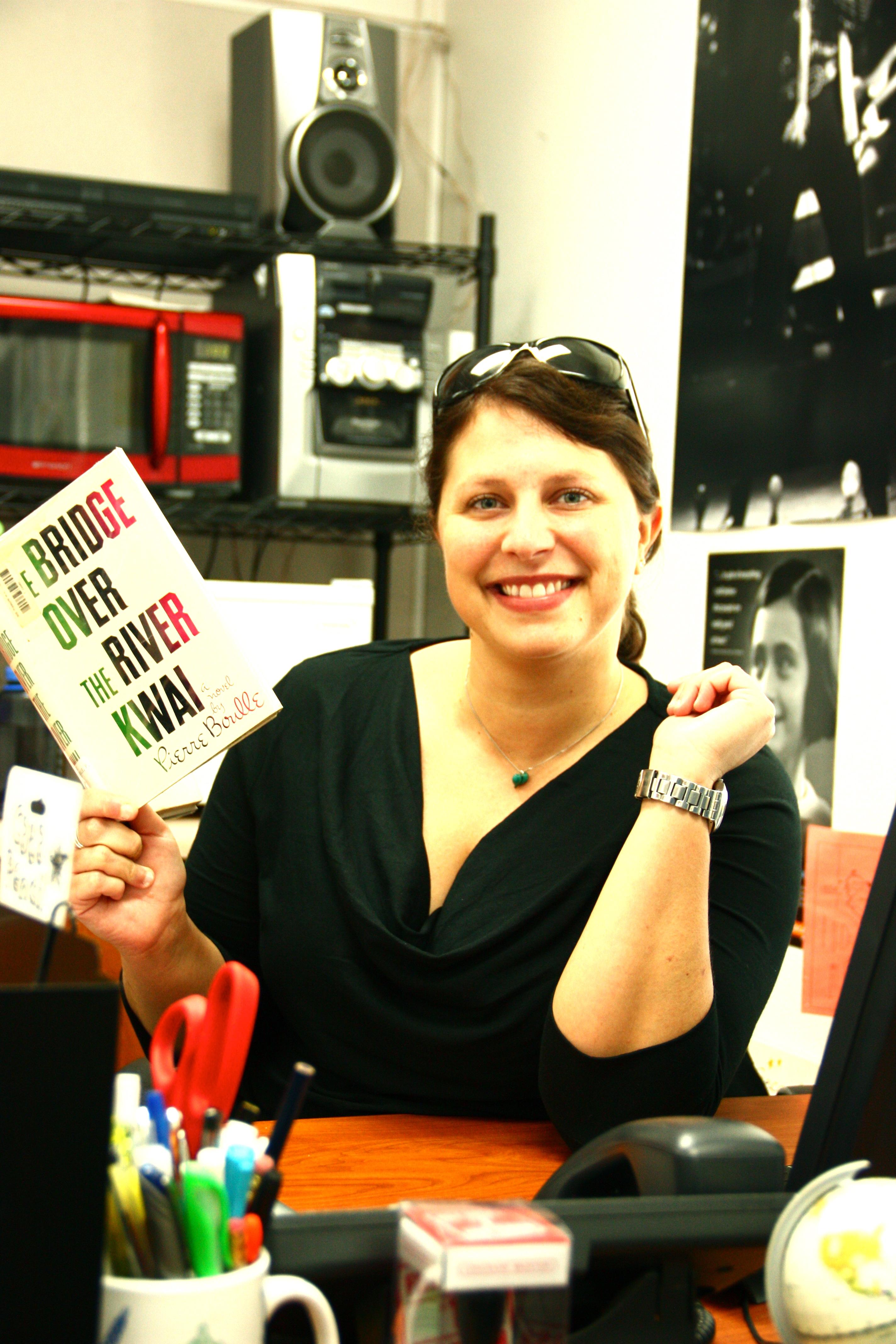 New teacher Kelly Savio brings energy to the classroom. Credit: Lauren Pedersen/The Foothill Dragon Press