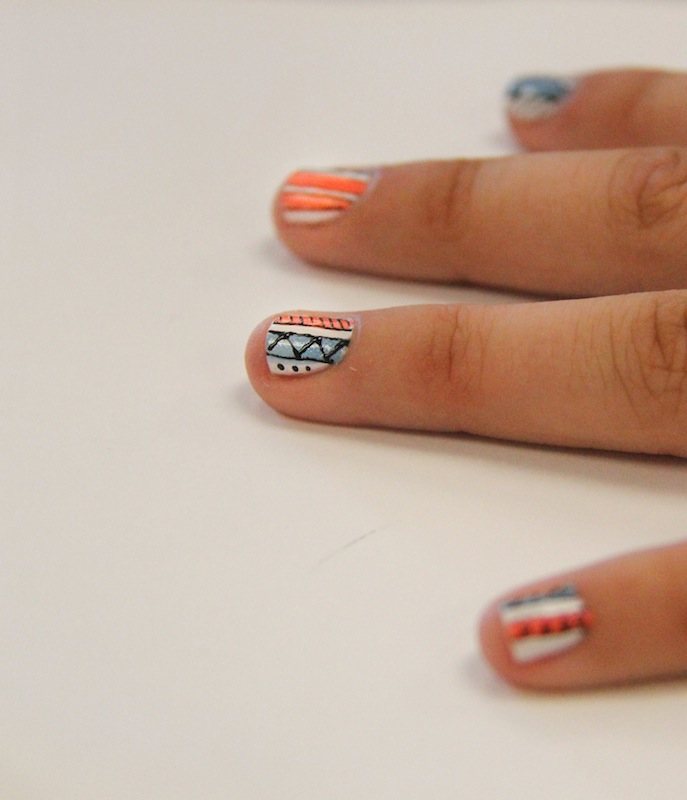 Nails are the perfect way to accessorize any outfit that needs color. Credit: Lauren Pedersen/The Foothill Dragon Press