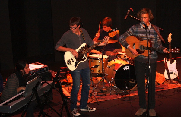 North Woods, Foothill student band, entertained audience members during the Give Thanks Fest at the Rubicon Theater Saturday. Credit: Heather Luscombe/The Foothill Dragon Press.