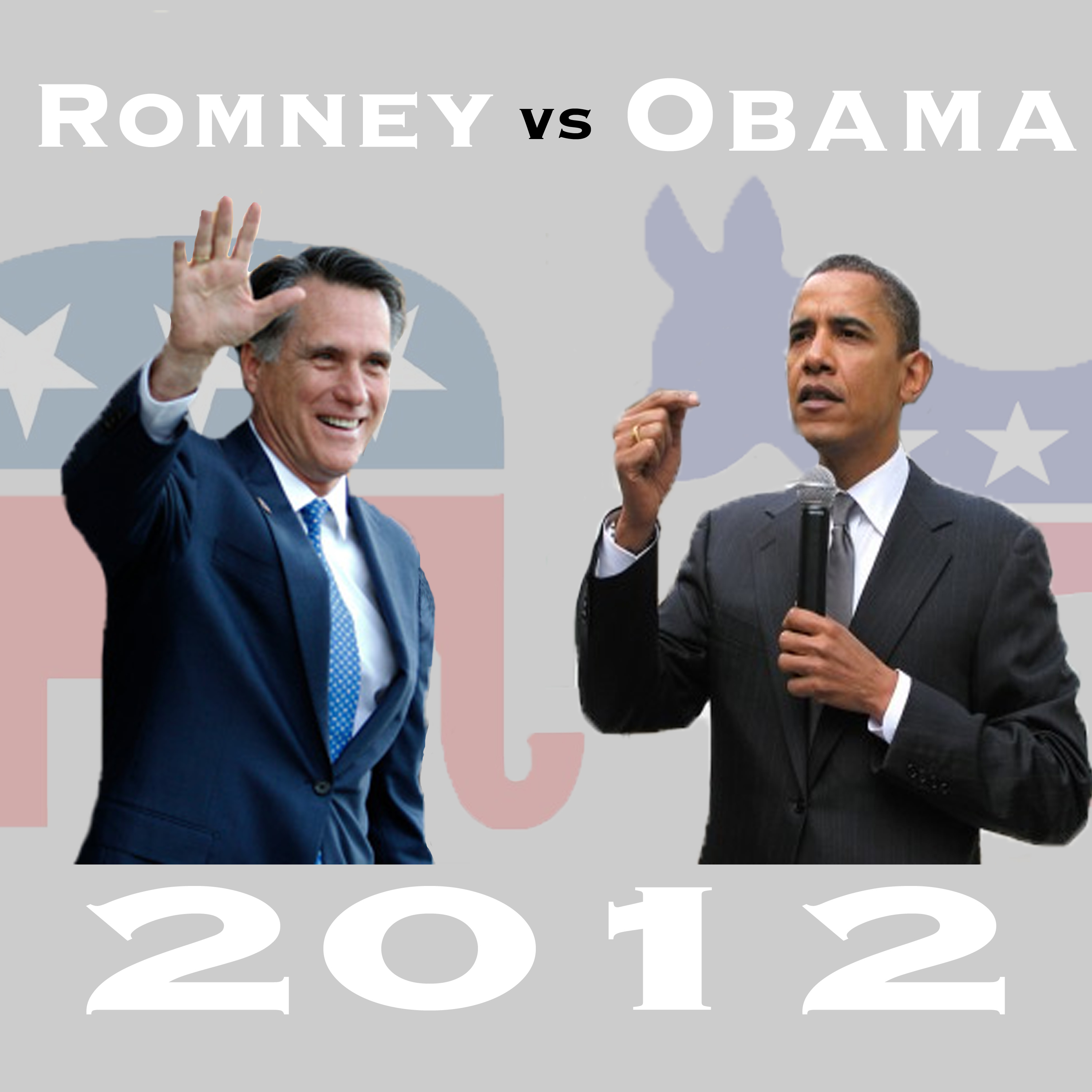 The presidential candidates for the 2012 election are Mitt Romney and Barack Obama. Credit, Obama photo: The Rio Times, Creative Commons. Credit, Romney photo: The Citizens Compass, Creative Commons. Credit, graphic: Jackson Tovar/The Foothill Dragon Press
