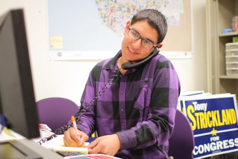 Foothill senior Otto Tielemans sacrificed to volunteer as an intern for Tony Strickland, who is running for Congress in Ventura County. Credit: Aysen Tan/The Foothill Dragon Press