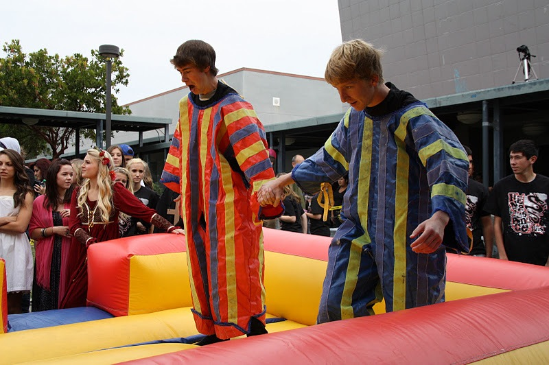 Students enjoy a velcro wall for Renaissance rewards.  Photo by Bethany Fankhauser.
