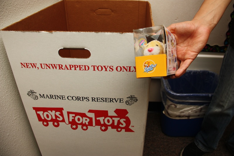 Tomorrow, five school buses will be stuffed with toys collected during the recent Toys for Tots drive. Credit: Aysen Tan/The Foothill Dragon Press.