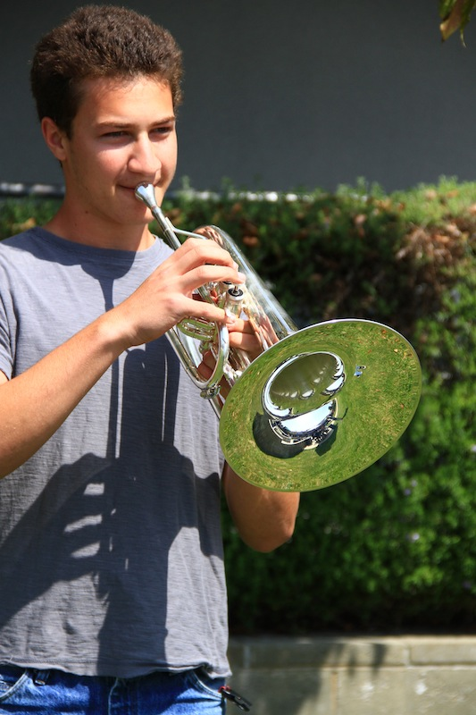 Senior Alex Tompkins is a member of The Blue Devils, a prestigious nationwide drum corps. Credit: Bethany Fankhauser/The Foothill Draogn Press