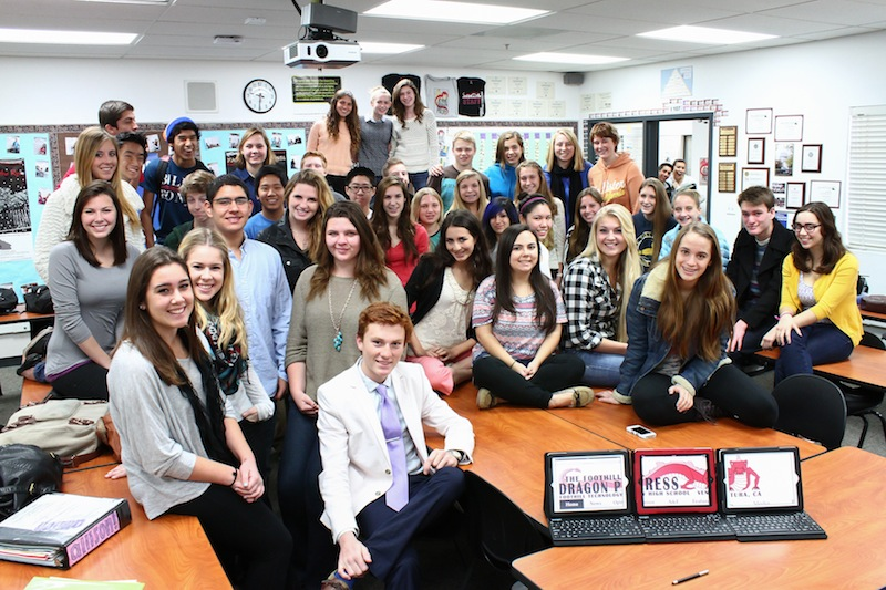 The Foothill Dragon Press has been recognized as an All-American publication for the third year in a row. Credit: Melissa Wantz/The Foothill Dragon Press
