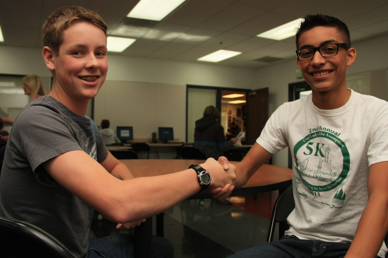 Freshmen Will Hammer (left) and Carlos Cohen (right) were elected as next year's sophomore vice president and president, respectively. Credit: Aysen Tan/The Foothill Dragon Press
