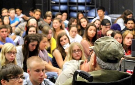 Holocaust survivor Bernd Simon visits Foothill, spreads message of hope and tolerance