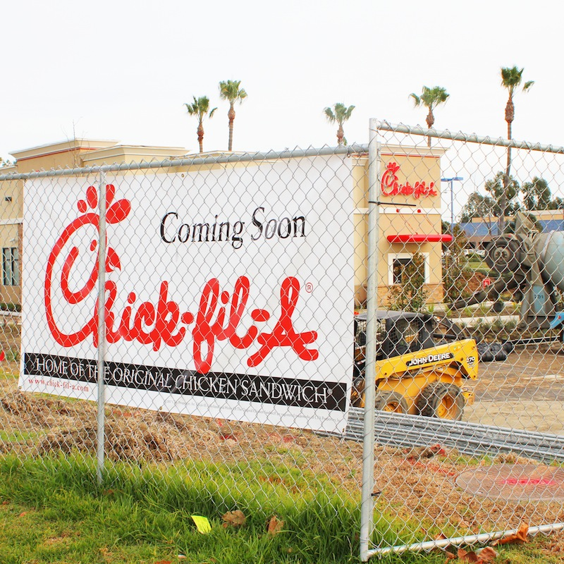 Chick-Fil-A will soon open a store in Ventura, which has agitated some residents. Credit: Aysen Tan/The Foothill Dragon Press
