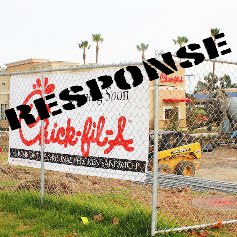 Chick-Fil-A should not be boycotted just because of what their Chief Operations Officer believes. Credit: Aysen Tan/The Foothill Dragon Press