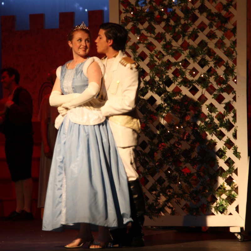 "Buena students Samantha Corbett and Jordan Selleck perform as Cinderella and The Prince in Buena High Drama Department's production of ""Cinderella."" Credit: Adam Braver/The Foothill Dragon Press."
