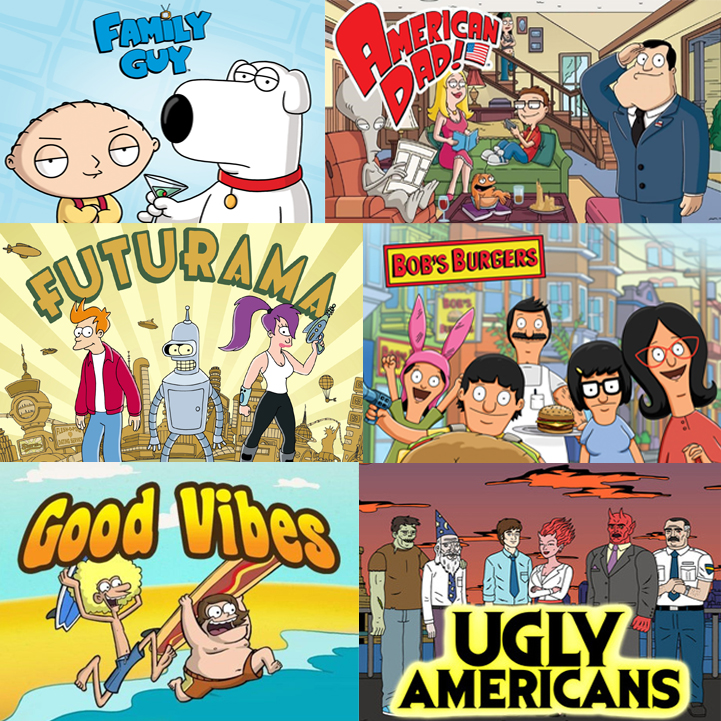 These are a few of the best and worst cartoon comedies on television. Collage Credit: Aysen Tan/The Foothill Dragon Press