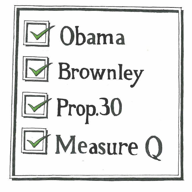 The Foothill Dragon Press endorses Barack Obama for president, Julia Brownley for Congress, Prop 30, and Measure Q. Credit: Claire Stockdill/The Foothill Dragon Press