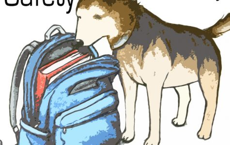 Drug-sniffing dogs add safety and security to the environment at school. Photo Illustration Credit: Claire Stockdill & Aysen Tan/The Foothill Dragon Press
