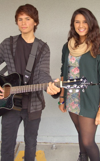 Juniors Justin Alvarado and Tara Yanez both share love of music