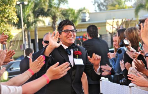 """Ventura High School senior John Nye attends """"A Night to Remember,"""" a prom put on by Mission Church for the special needs community. Credit: Jackson Tovar/The Foothill Dragon Press"""